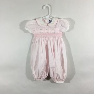 Vtg Carriage  Boutiques Smocked Bubble Outfit 6M
